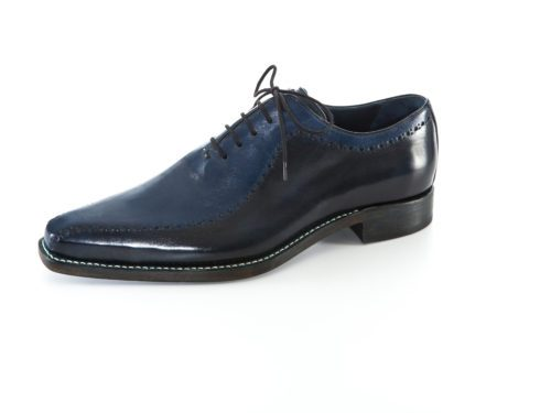 Herren Businessschuh Bicolor Oxford in schwarz/blau