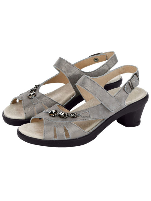 Sandalette Semler taupe/goldfarben