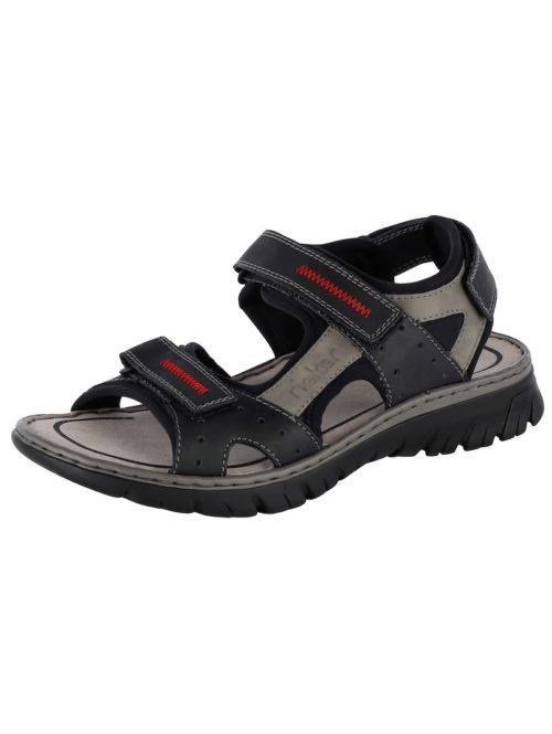 Sandale Rieker schwarz/grau