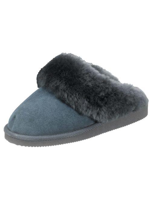 Hausschuh Vamos blau-grau