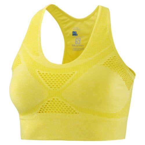 Salomon Medium Impact Bra Damen Sport-BH yellow Gr. S