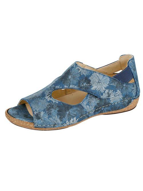 Sandalette Waldläufer blau-floral