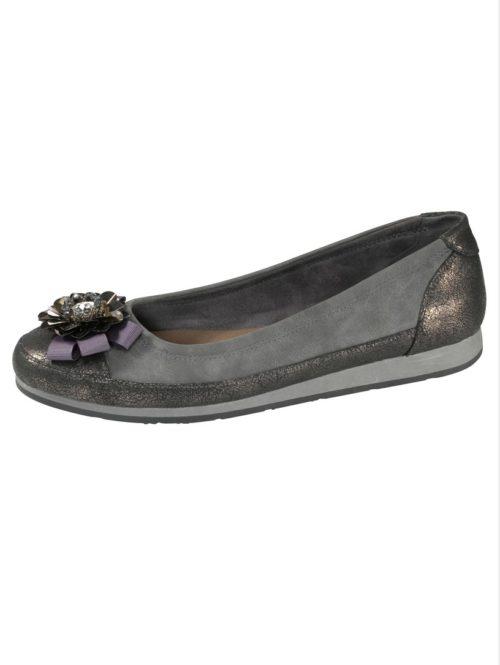 Ballerina Fitters Footwear grau/anthrazit