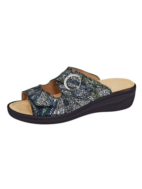 Pantolette Franken Schuhe blau