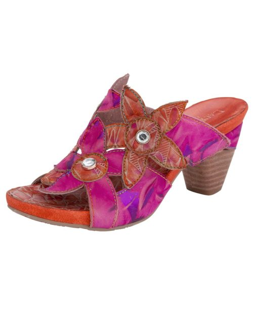 Pantolette Laura Vita pink/orange