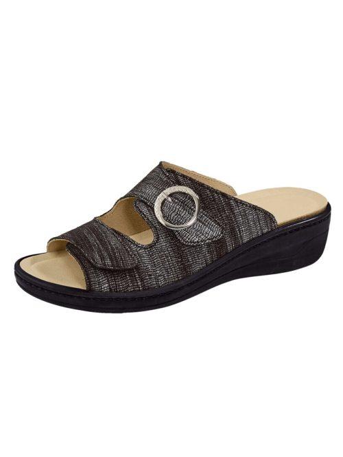 Pantolette Franken Schuhe silberfarben