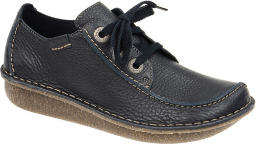 Clarks Funny Dream navy leather
