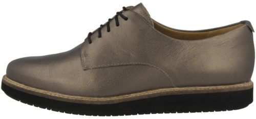 Clarks Glick Darby pewter leather