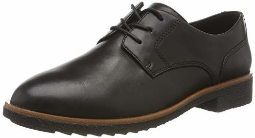 Clarks Griffin Lane black leather