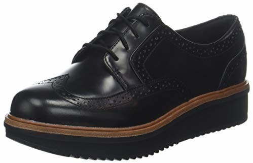 Clarks Teadale Maira Brogues black leather