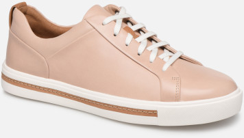Clarks Un Maui Lace Derbys nude leather
