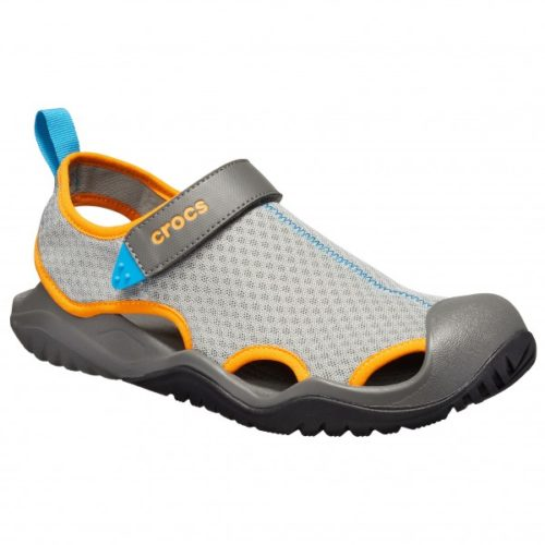 Crocs - Swiftwater Mesh Deck Sandal - Sandalen Gr M10;M11;M12;M13;M7;M8;M9 schwarz/grau;grau/braun/schwarz