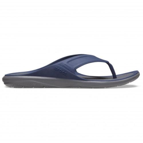 Crocs - Swiftwater Wave Flip - Sandalen Gr M8 grau/blau