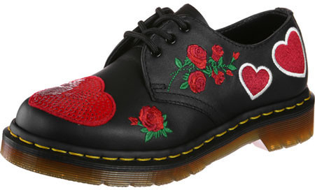 Dr. Martens Sequin Hearts black/red softy t