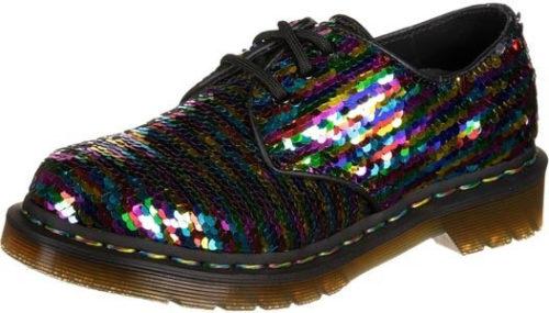 Dr. Martens Sequin Lace Up Shoe Rainbow (R24597980) Multi/Silver