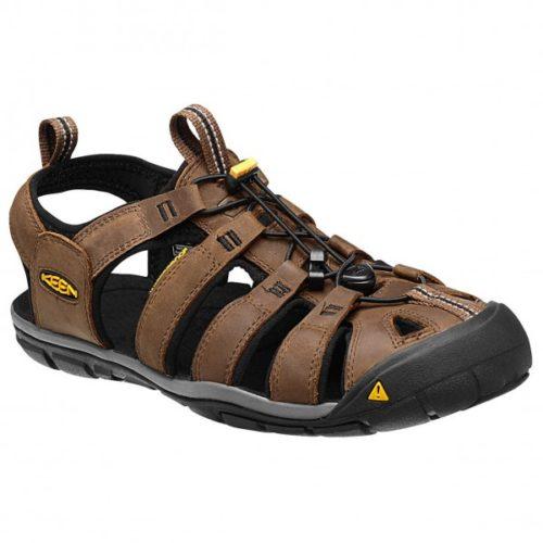 Keen - Clearwater CNX Leather - Sandalen Gr 8 schwarz/braun
