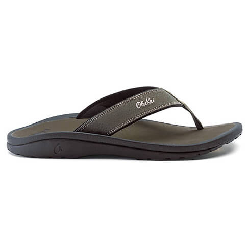 Olukai - Ohana - Sandalen Gr 15 schwarz/grau