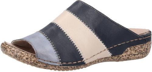 Rieker Pantoletten (V7266) blau kombi