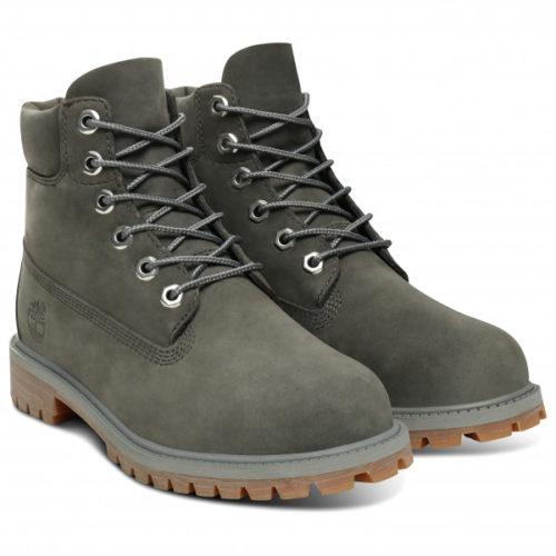 Timberland - 6 Inch Premium Boot - Freizeitstiefel Gr 3,5 grau/oliv/schwarz