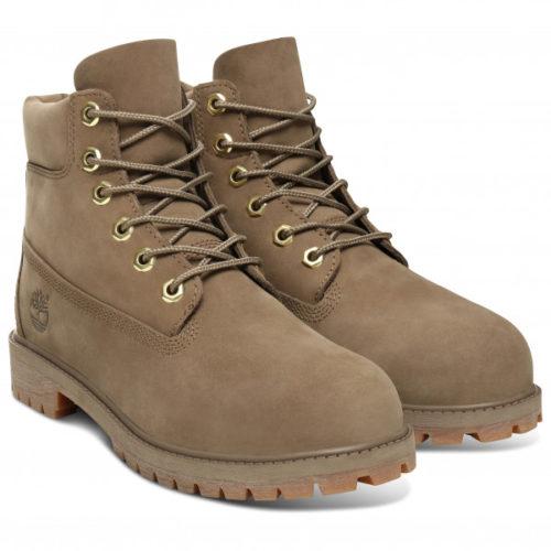 Timberland - 6 Inch Premium Boot - Freizeitstiefel Gr 5 braun/grau