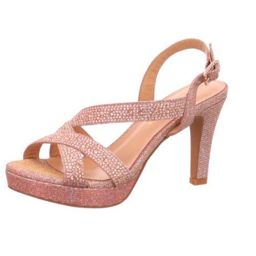 Damen Alma en Pena Klassische Sandalen beige Plateau Sandalette 36