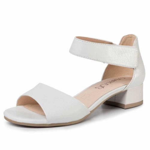 Damen Caprice Klassische Sandalen weiss Da.-Sandalette 38,5