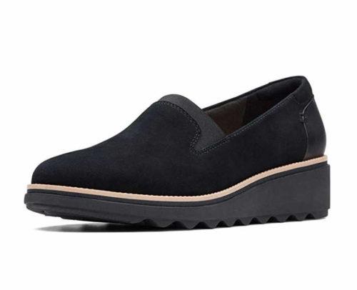Damen Clarks Komfort Slipper schwarz 40,5