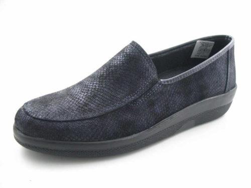 Damen Comfortabel Komfort Slipper blau 41