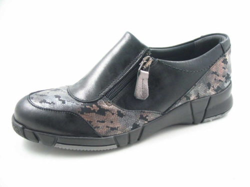Damen Comfortabel Komfort Slipper schwarz 37