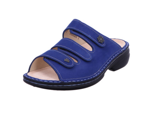 Damen Finn Comfort Pantoletten blau 38