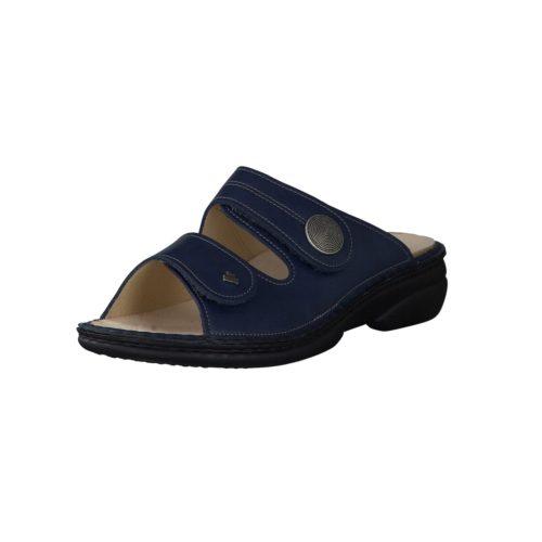 Damen Finn Comfort Pantoletten blau 39