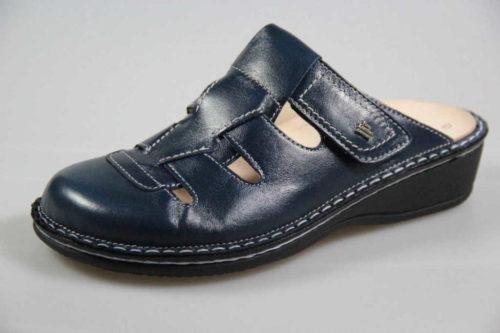 Damen Finn Comfort Pantoletten blau Java 38