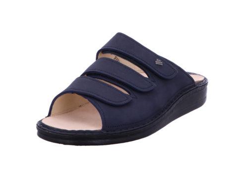 Damen Finn Comfort Pantoletten blau Korfu 42