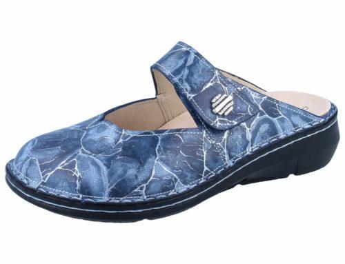 Damen Finn Comfort Pantoletten blau Roseau 38