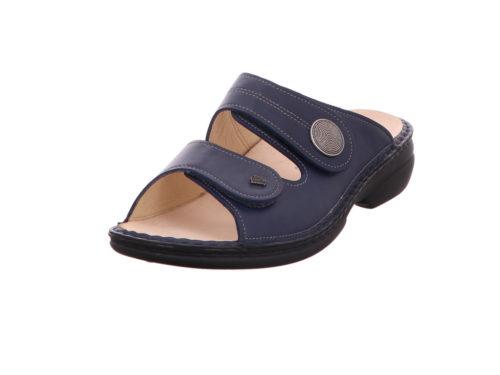 Damen Finn Comfort Pantoletten blau Sansibar 39