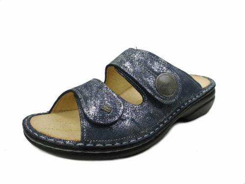 Damen Finn Comfort Pantoletten blau Sansibar 42