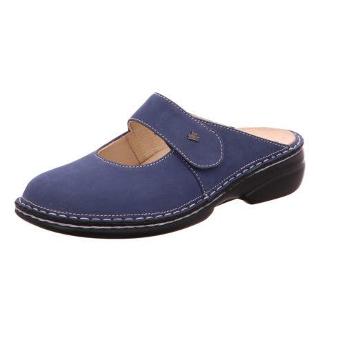 Damen Finn Comfort Pantoletten blau Stanford demin 41