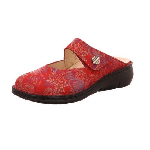 Damen Finn Comfort Pantoletten rot ROSEAU 38