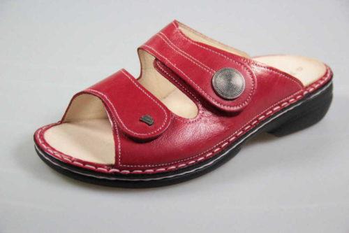 Damen Finn Comfort Pantoletten rot Sansibar monzared 41