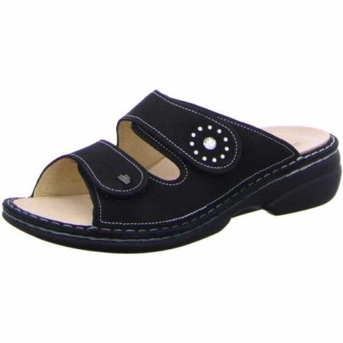 Damen Finn Comfort Pantoletten schwarz Beverly-S 36