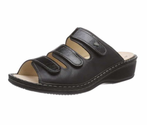 Damen Finn Comfort Pantoletten schwarz Pisa-schwarz NappaSeda/Lack 42