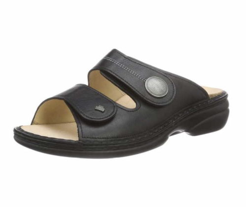 Damen Finn Comfort Pantoletten schwarz Sansibar plata 34