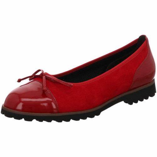 Damen Gabor Ballerinas rot rubin cherry 40,5