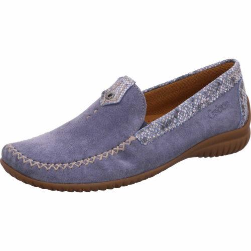 Damen Gabor Klassische Slipper blau 38,5