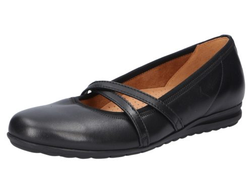 Damen Gabor Klassische Slipper schwarz Florenz 40