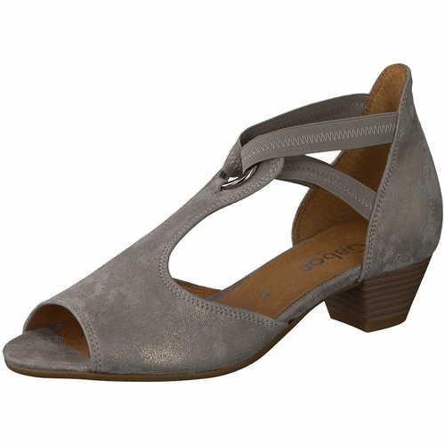 Damen Gabor Komfort Sandalen metallic Sandalette Malta, Weite H 40