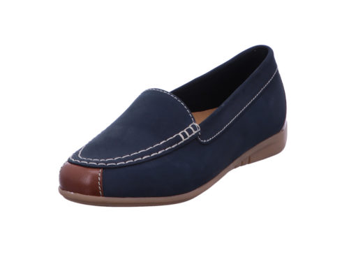 Damen Gabor Mokassins blau 42,5