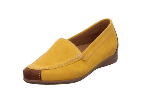 Damen Gabor Mokassins gelb 35