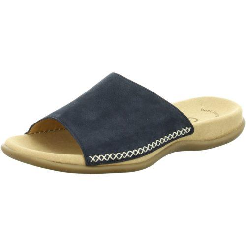 Damen Gabor Pantoletten blau 41