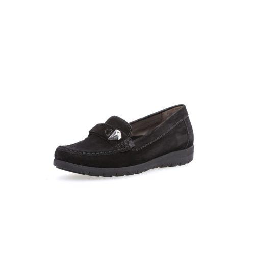 Damen Gabor Sportliche Slipper schwarz 37